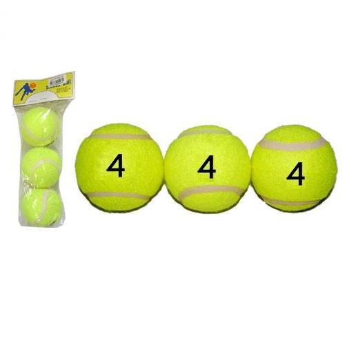 Мяч б/т Тигр 4 орт в пакете 3шт (за 1 шт)  02043