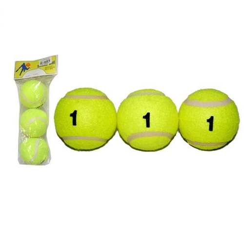 Мяч б/т Tennis Ball 1 сорт в пакете (за 1 шт)  02062