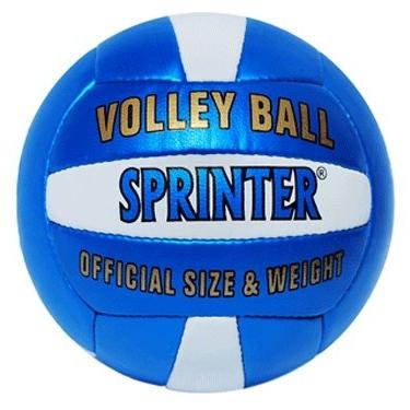 Мяч в/б Спринтер шитый сине-белый  05090