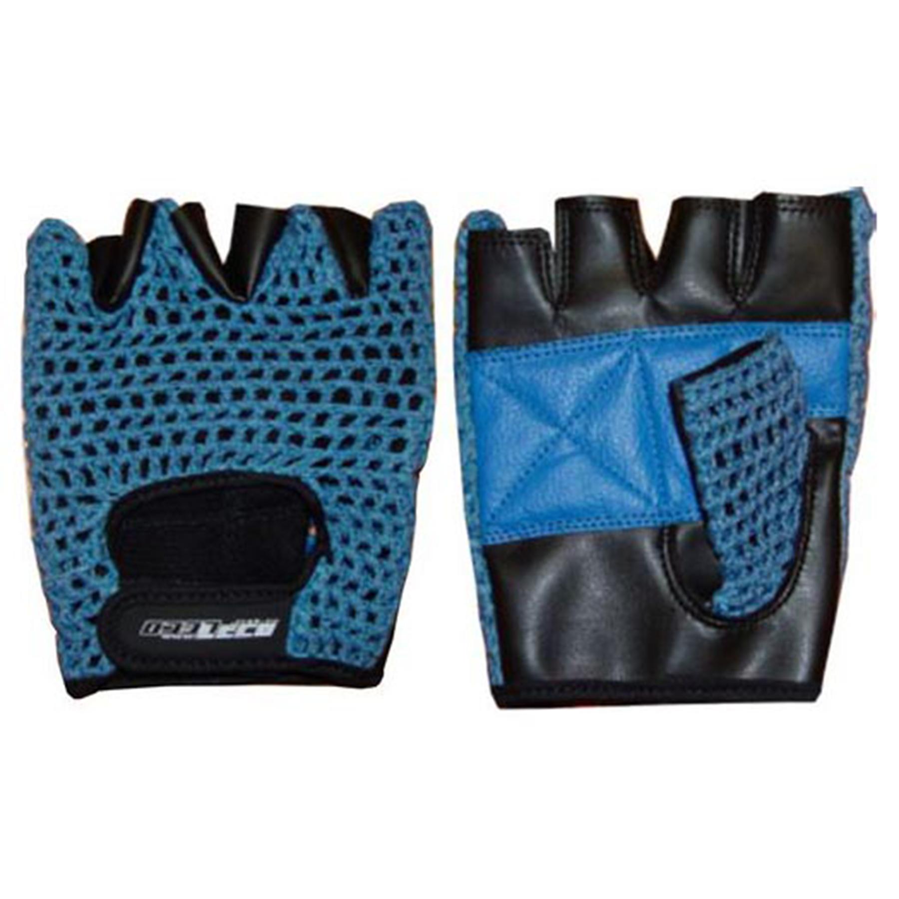 Перчатки для фитнеса и тяж.атлетики ПРО кожа/сетка р. M (т11125-2)