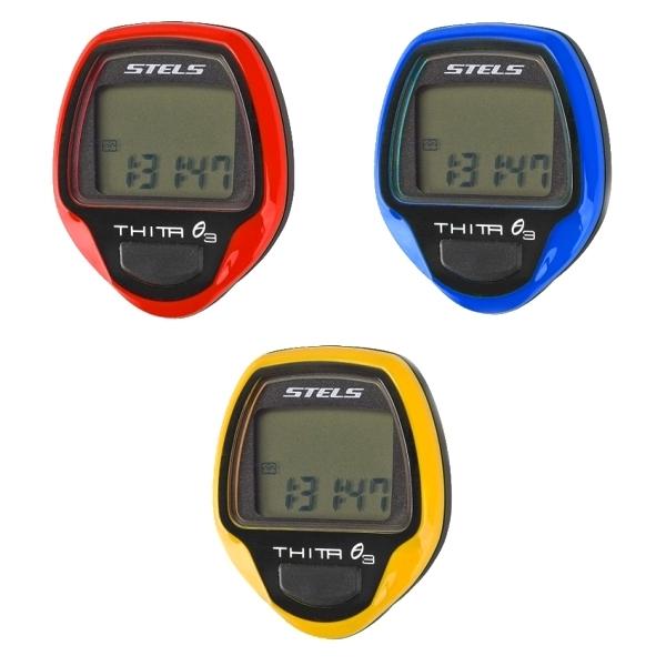 Велокомпьютер Thita-3,  10 функций (желтый)