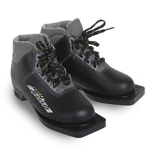 Ботинки лыжные Spine CROSS кожа NN75  р.35 черные