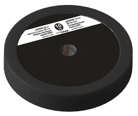 Диск Леко d-26 мм 10 кг черный, пластик покрытие (гп020300)