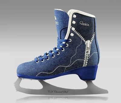 Коньки фигурные  СК FASHION JEANS blue /LUX 37 р.