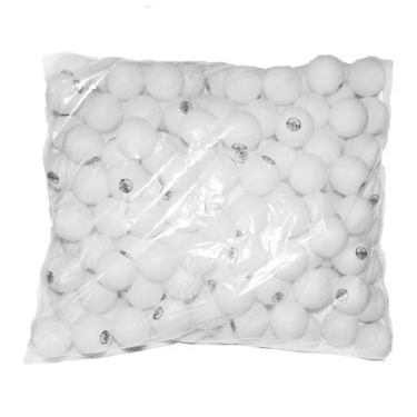 Мячик н/т Sprinter O-40MM в пакете 150 шт/уп белый (цена за штуку)  11186