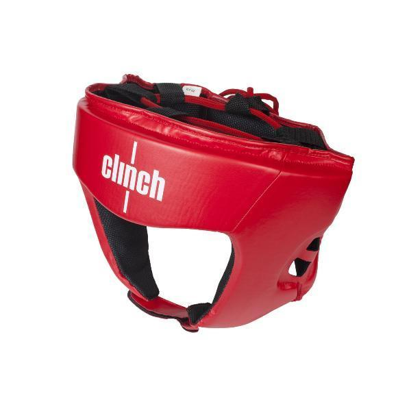Шлем бокс. Clinch Olimp C112-XL красный (офиц.лицензия Федер. Бокса России)