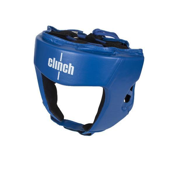 Шлем бокс. Clinch Olimp C112-M синий (офиц.лицензия Федер. Бокса России)