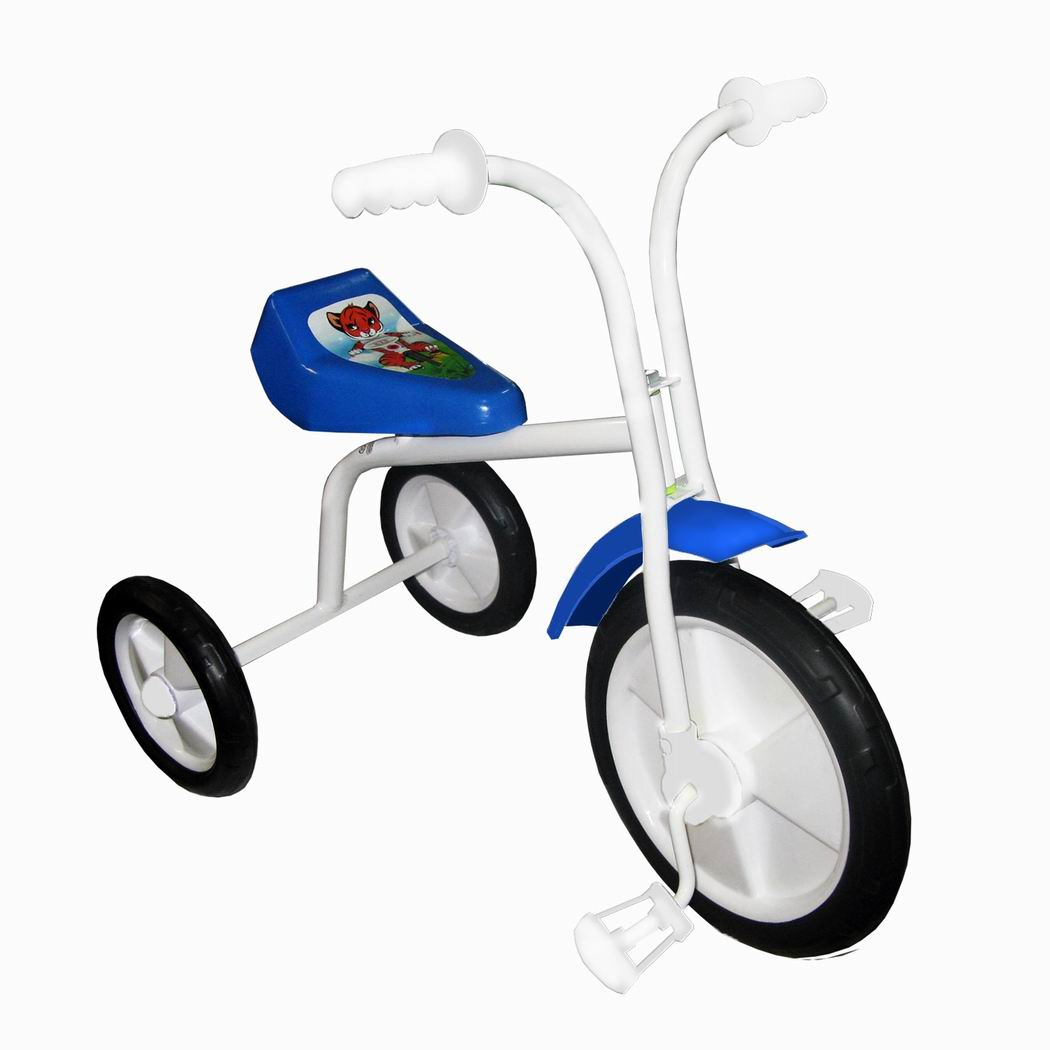 "Велосипед ""Малыш"" мод. 01ПН голубой (пласт.кол., без гудка, без перед.панели)"