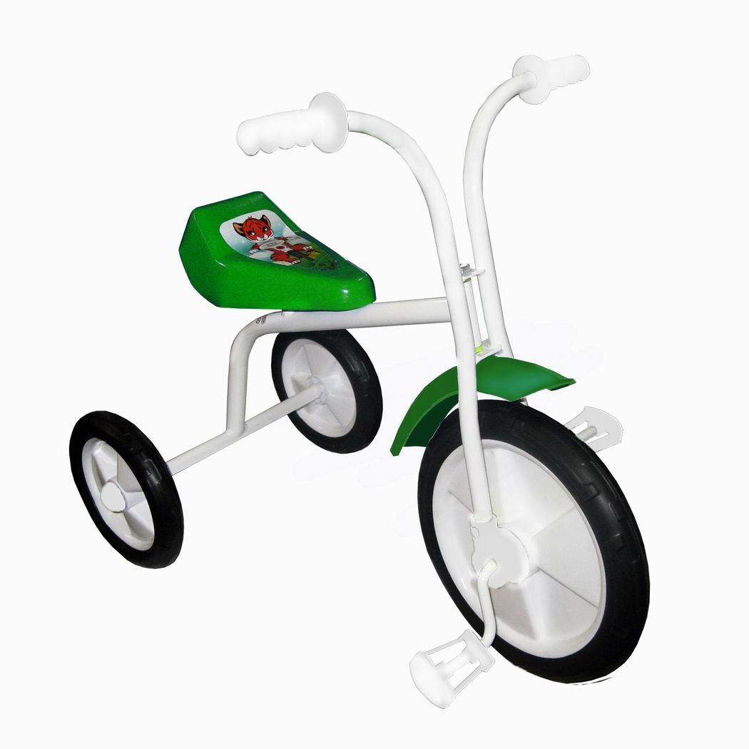 "Велосипед ""Малыш"" мод. 01ПН зеленый (пласт.кол., без гудка, без перед.панели)"