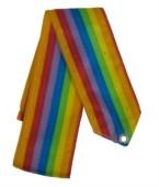Лента гимнастическая без палочки АВ270-1 продольная радуга