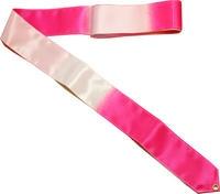 Лента гимнастическая без палочки АВ235-PN/W розово/белая