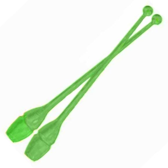 Булавы для худ.гимнастики 244-GR взрослые 150гр, 44см зеленые