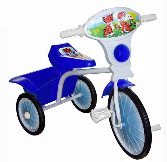 "Велосипед ""Малыш"" мод. 05 голубой (метал.кол., с кузовком)"