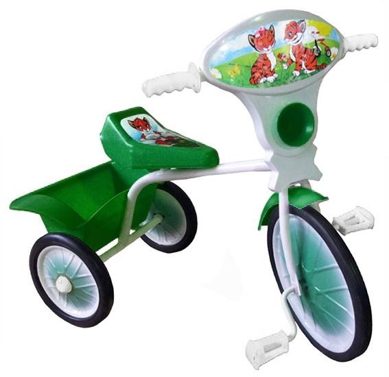 """Велосипед """"Малыш"""" мод. 05 зеленый (метал.кол., с кузовком)"""