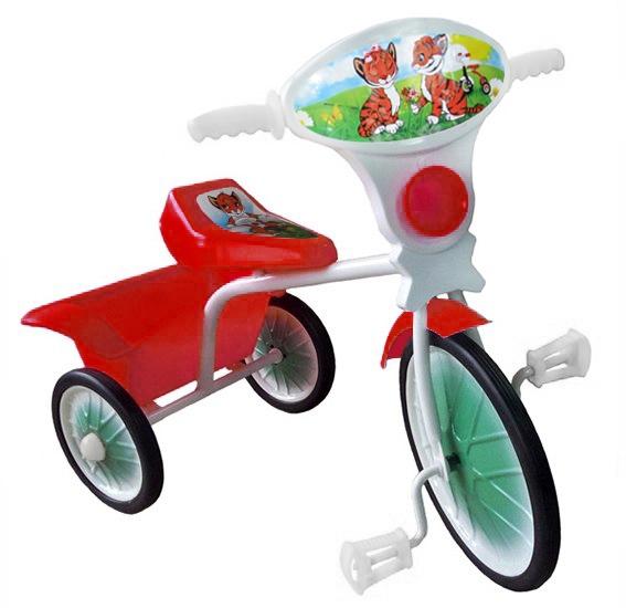 """Велосипед """"Малыш"""" мод. 05 розовый (метал.кол., с кузовком)"""