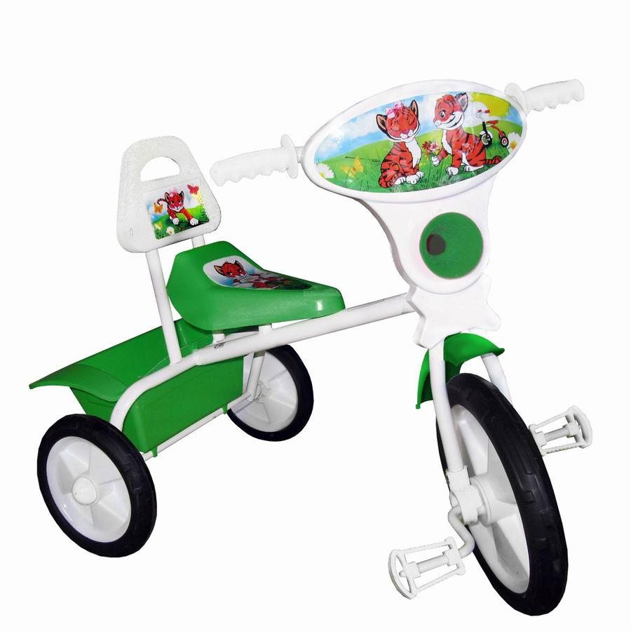 """Велосипед """"Малыш"""" мод. 06П зеленый (пласт.кол., со спинкой и кузовком) УЦЕНКА!!! 270917"""