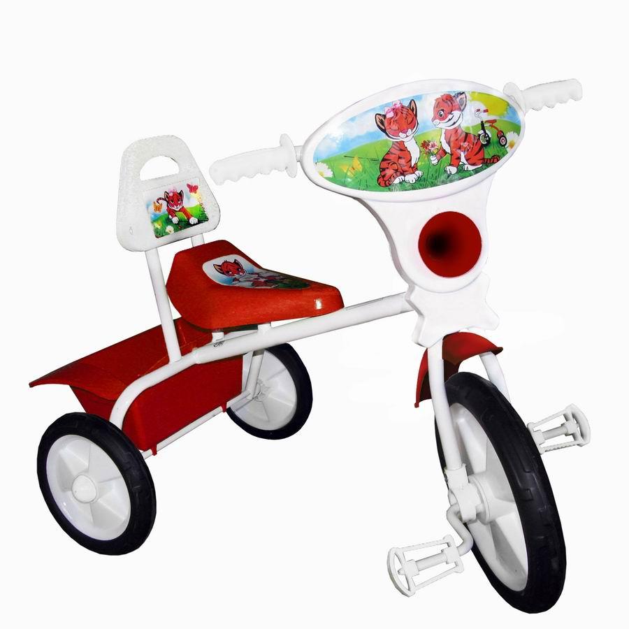 """Велосипед """"Малыш"""" мод. 06П розовый (пласт.кол., со спинкой и кузовком) РАСПРОДАЖА!"""