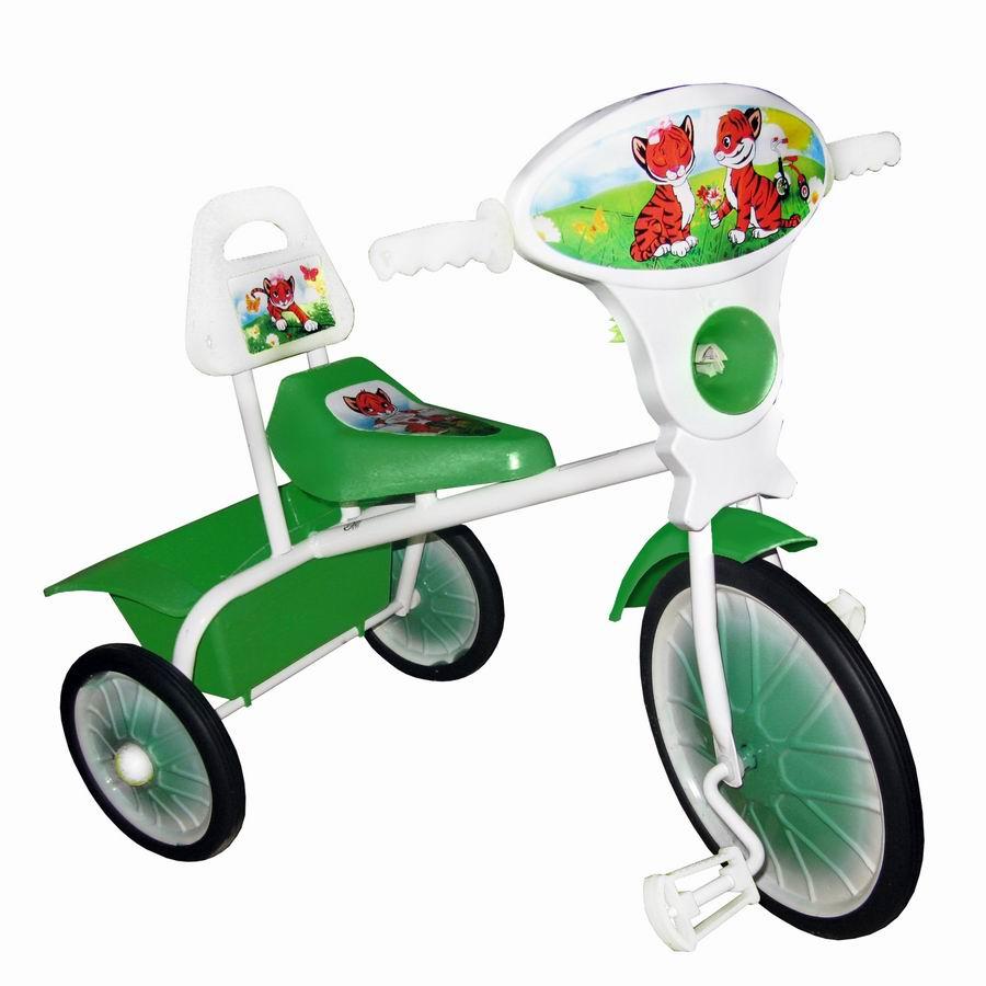 """Велосипед """"Малыш"""" мод. 06 зеленый (метал.кол., со спинкой и кузовком) РАСПРОДАЖА!"""