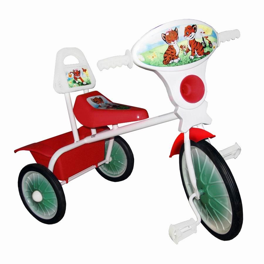 """Велосипед """"Малыш"""" мод. 06 розовый (метал.кол., со спинкой и кузовком) УЦЕНКА!!! 270917"""