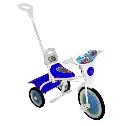 """Велосипед """"Малыш"""" мод. 09/2 синий (мет.кол., кузов,спин,упр.ручка и доп.подн) РАСПРОДАЖА!"""