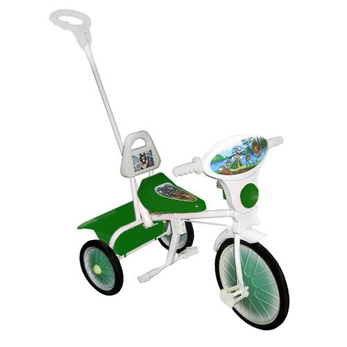 """Велосипед """"Малыш"""" мод. 09/2 зеленый (мет.кол., кузов,спин,упр.ручка и доп.подн) РАСПРОДАЖА!"""
