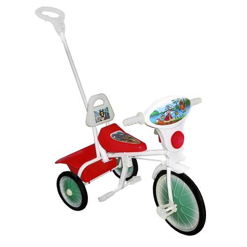"""Велосипед """"Малыш"""" мод. 09/2 розовый (мет.кол., кузов,спин,упр.ручка и доп.подн) РАСПРОДАЖА!"""