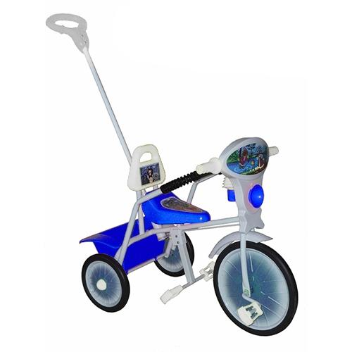 """Велосипед """"Малыш"""" мод. 09 голубой (мет.кол., с огр,кузов,спин,упр.ручка и доп.подн) УЦЕНКА!!! 270917"""