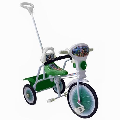"""Велосипед """"Малыш"""" мод. 09 зеленый (мет.кол., с огр,кузов,спин,упр.ручка и доп.подн) РАСПРОДАЖА!"""