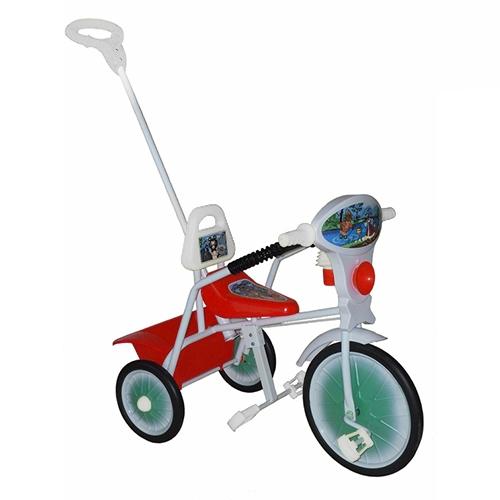 """Велосипед """"Малыш"""" мод. 09 розовый (мет.кол., с огр,кузов,спин,упр.ручка и доп.подн) РАСПРОДАЖА!"""