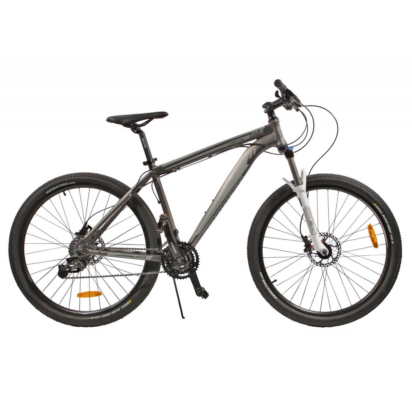 "Велосипед Gravity 27,5"" TWISTER 24 скор. алюм.рама 19"" гидравл.торм. серый (7401) УЦЕНКА!!! 270917"