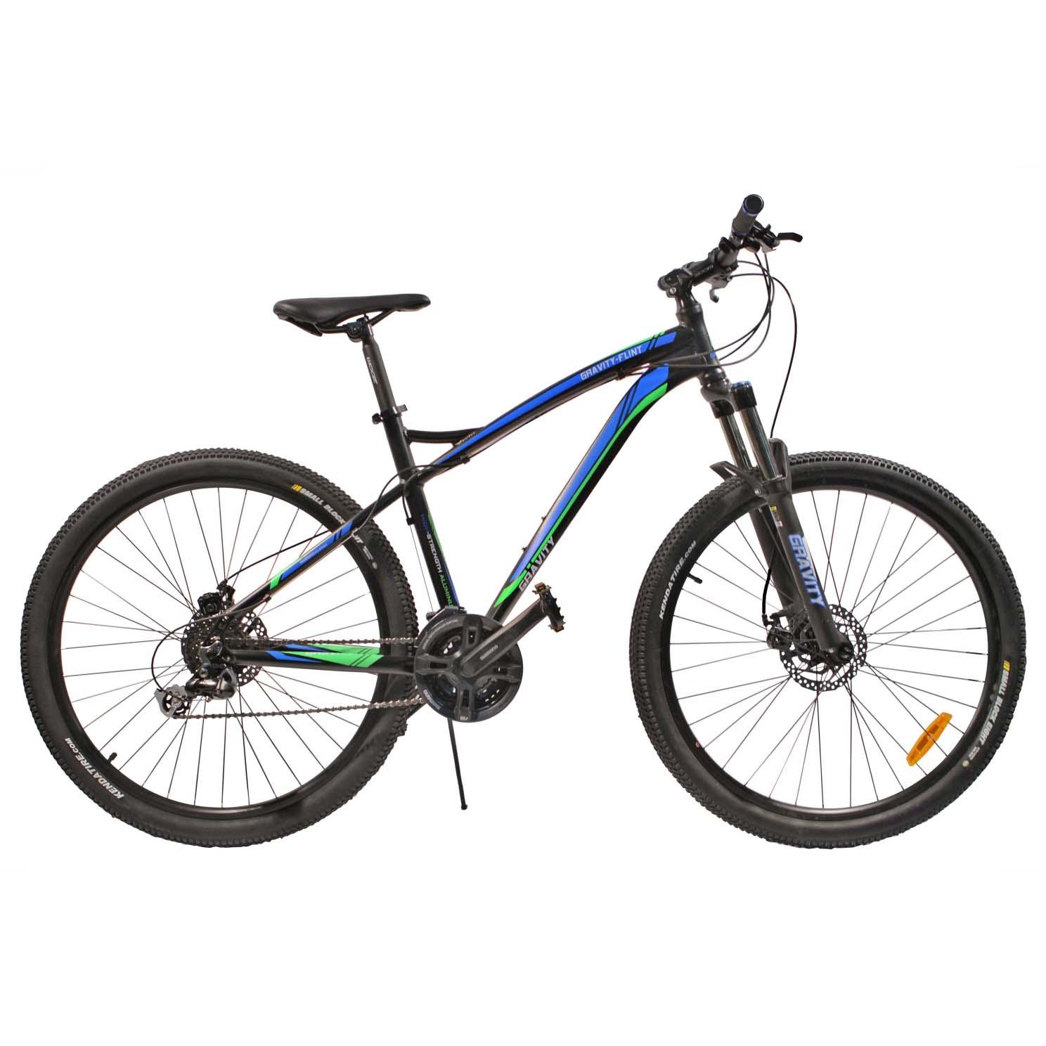 """Велосипед Gravity 27,5"""" FLINT 24 скор. алюм.рама 19"""" диск.торм. черно-синий (7402) УЦЕНКА!!! 270917"""