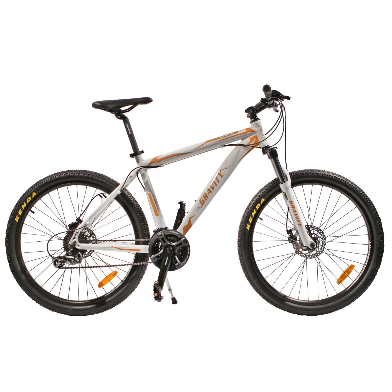 """Велосипед Gravity 26"""" CANYON 24 скор. алюм.рама 19"""" диск.торм. желто-белый (7403)"""