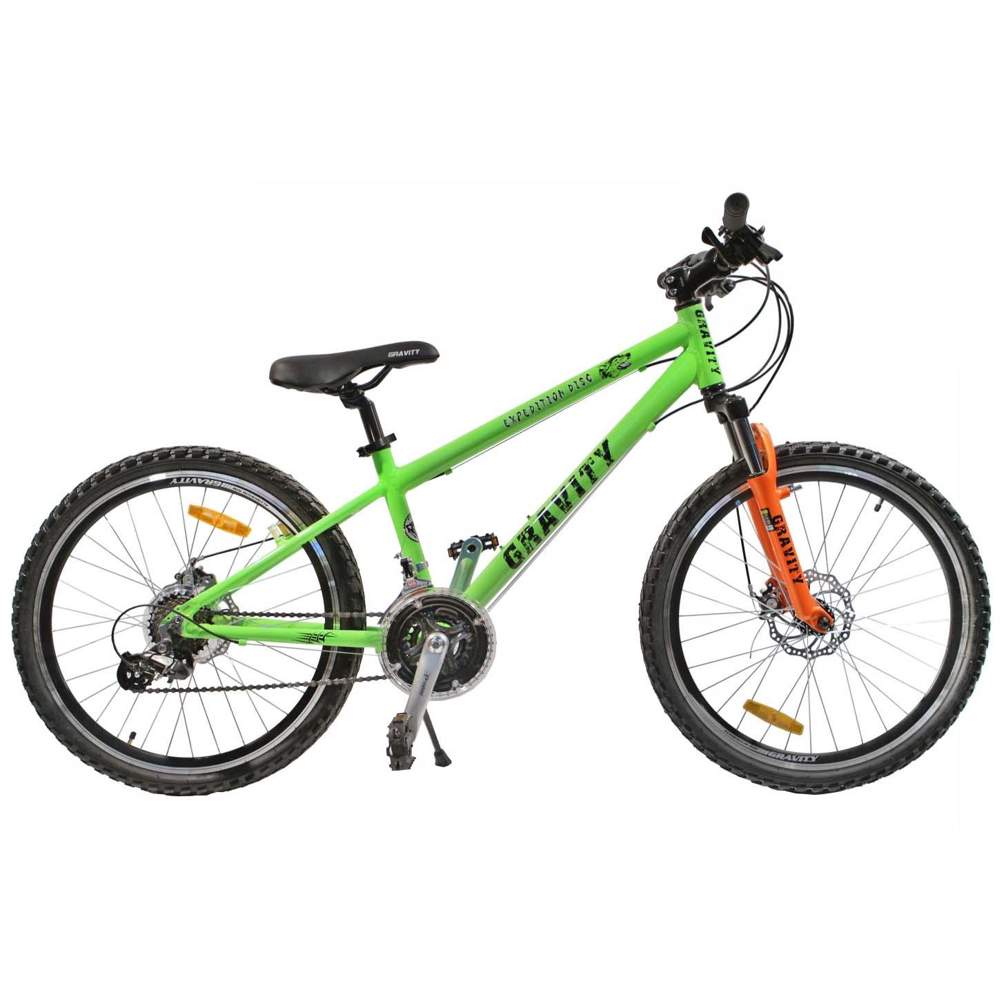 """Велосипед Gravity 24"""" EXPEDITION DISC 21 скор. ал.рама 17"""" диск.торм. салат (7405) УЦЕНКА!!! 270917"""