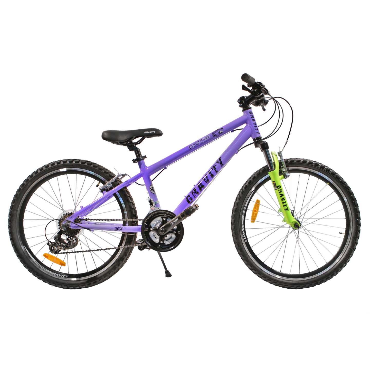 "Велосипед Gravity 24"" EXPEDITION 21 скор. алюм.рама 17"" сиреневый (7406)"