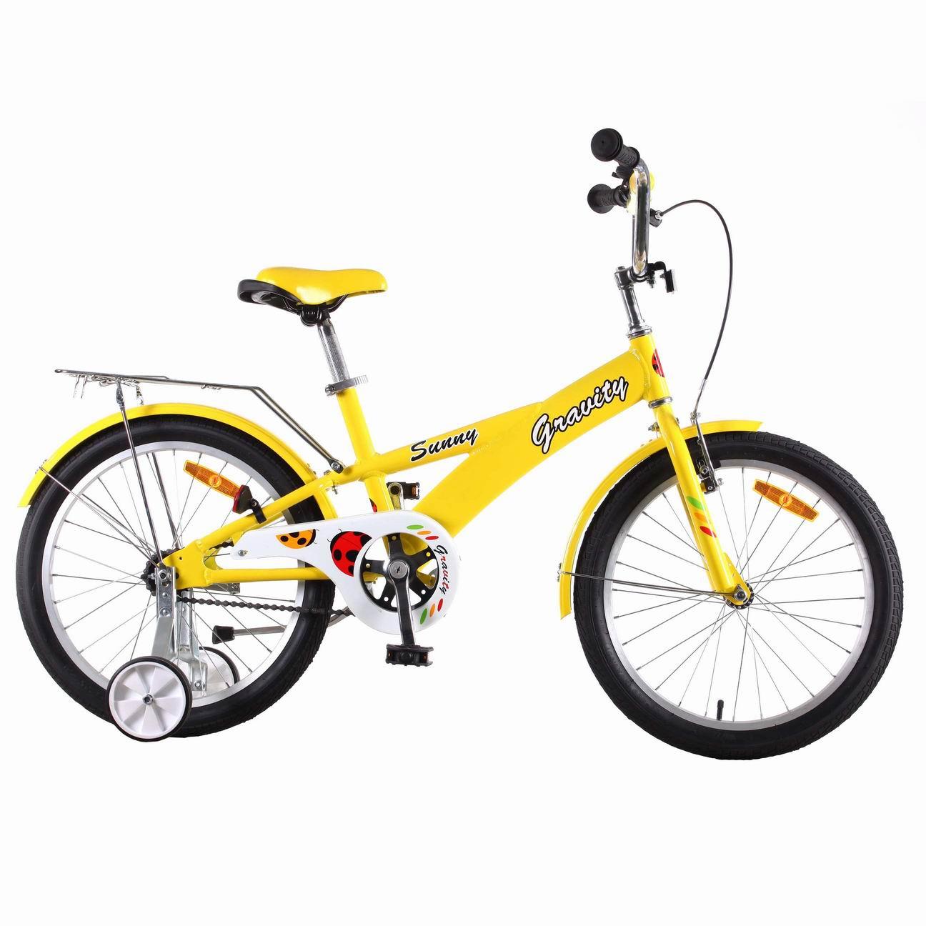 "Велосипед Gravity 20"" SUNNY желтый 1 скор. алюм.рама руч.торм. (7219-1) УЦЕНКА!!! 270917"