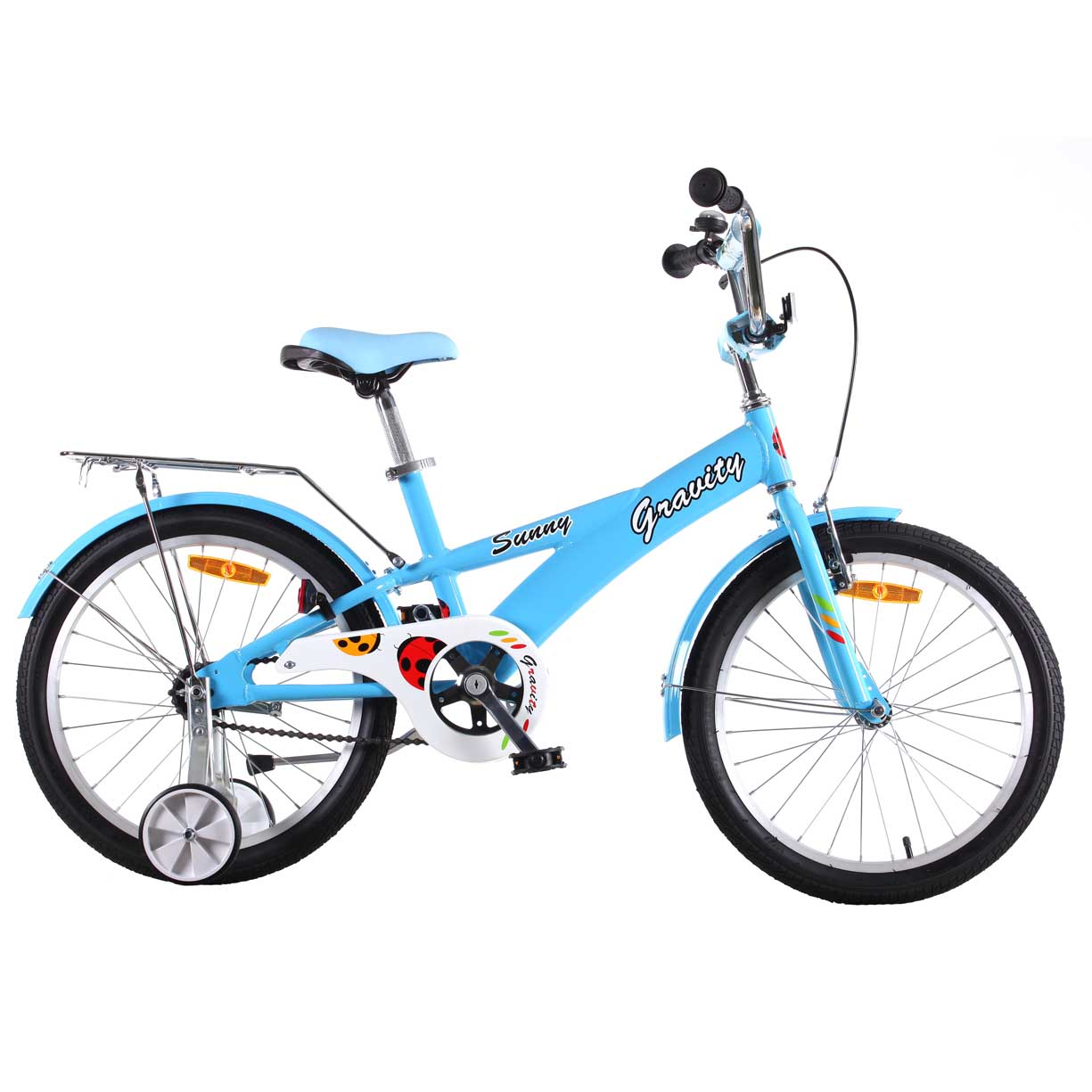 "Велосипед Gravity 20"" SUNNY голубой 1 скор. алюм.рама руч.торм. (7219-2) УЦЕНКА!!! 270917"