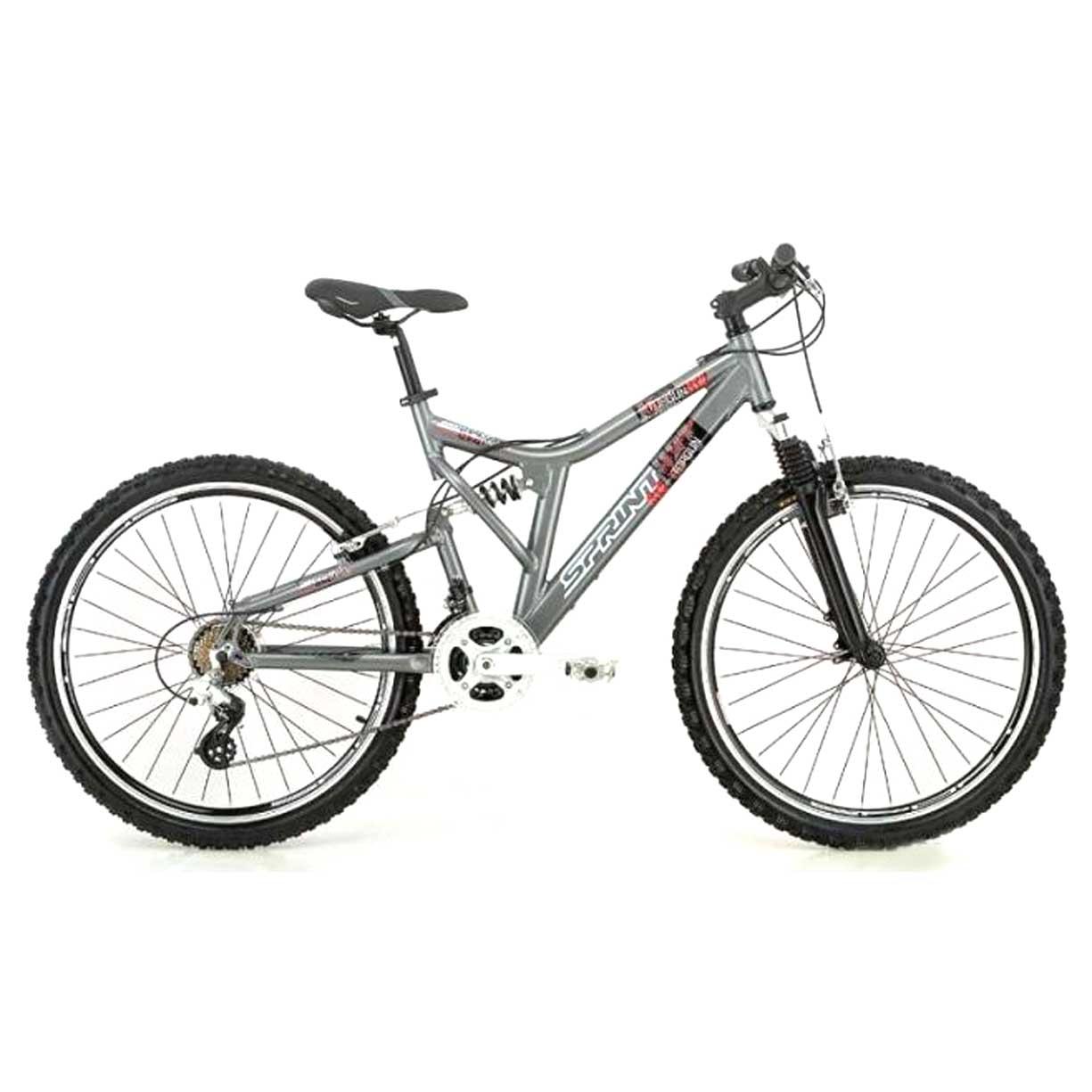 """Велосипед Sprint 26"""" TOP GUN 21 скор. ал.рама 18"""" диск.торм. двухподв серый(01255) УЦЕНКА!!! 270917"""