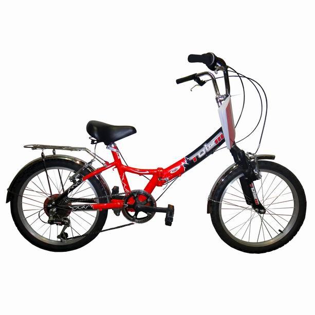 "Велосипед Totem 20"" SF-276A susp 6 скор.ал.рама,складн,пер.аморт.черно-красн(01091) УЦЕНКА!!! 270917"