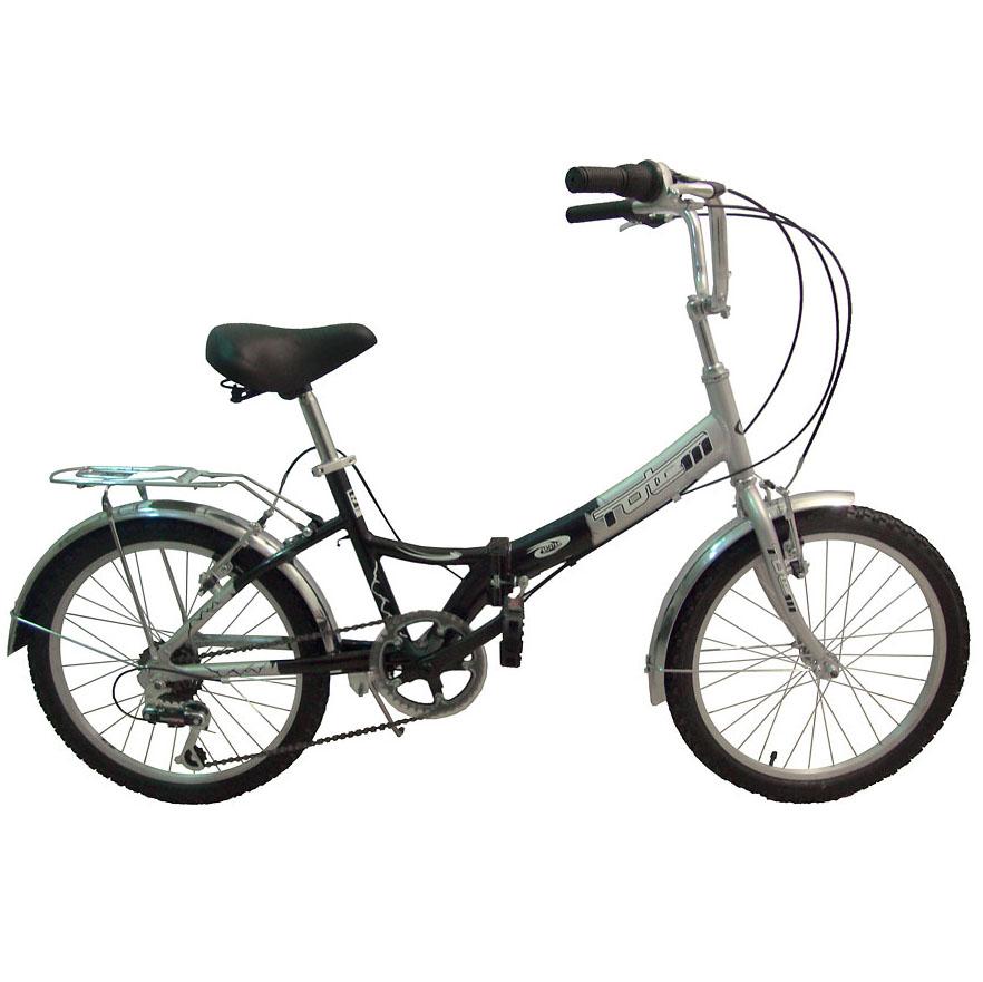 "Велосипед Totem 20"" SF-276A 6 скор. алюм.рама складной черно-серый (01087)"