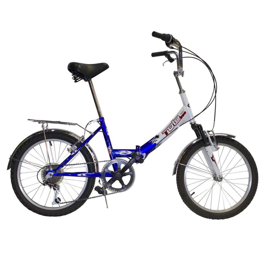 """Велосипед Totem 20"""" SF-170 susp 6 скор. стал.рама складной перед.амортиз. сине-белый (11100)"""