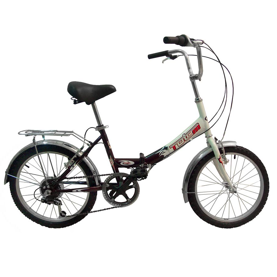 "Велосипед Totem 20"" SF-170 susp 6 скор. стал.рама складной перед.амортиз. бордо-белый (01100)"