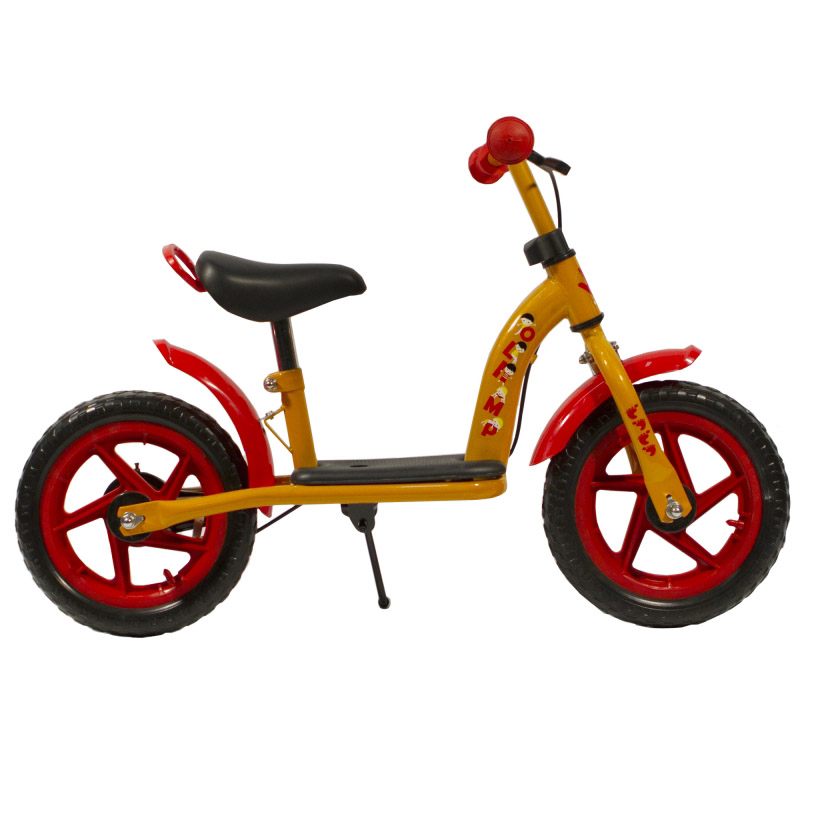 "Беговел OLIMP 12"" пласт.колеса стал.рама зад.торм. оранжевый GO02135 УЦЕНКА!!! 270917"