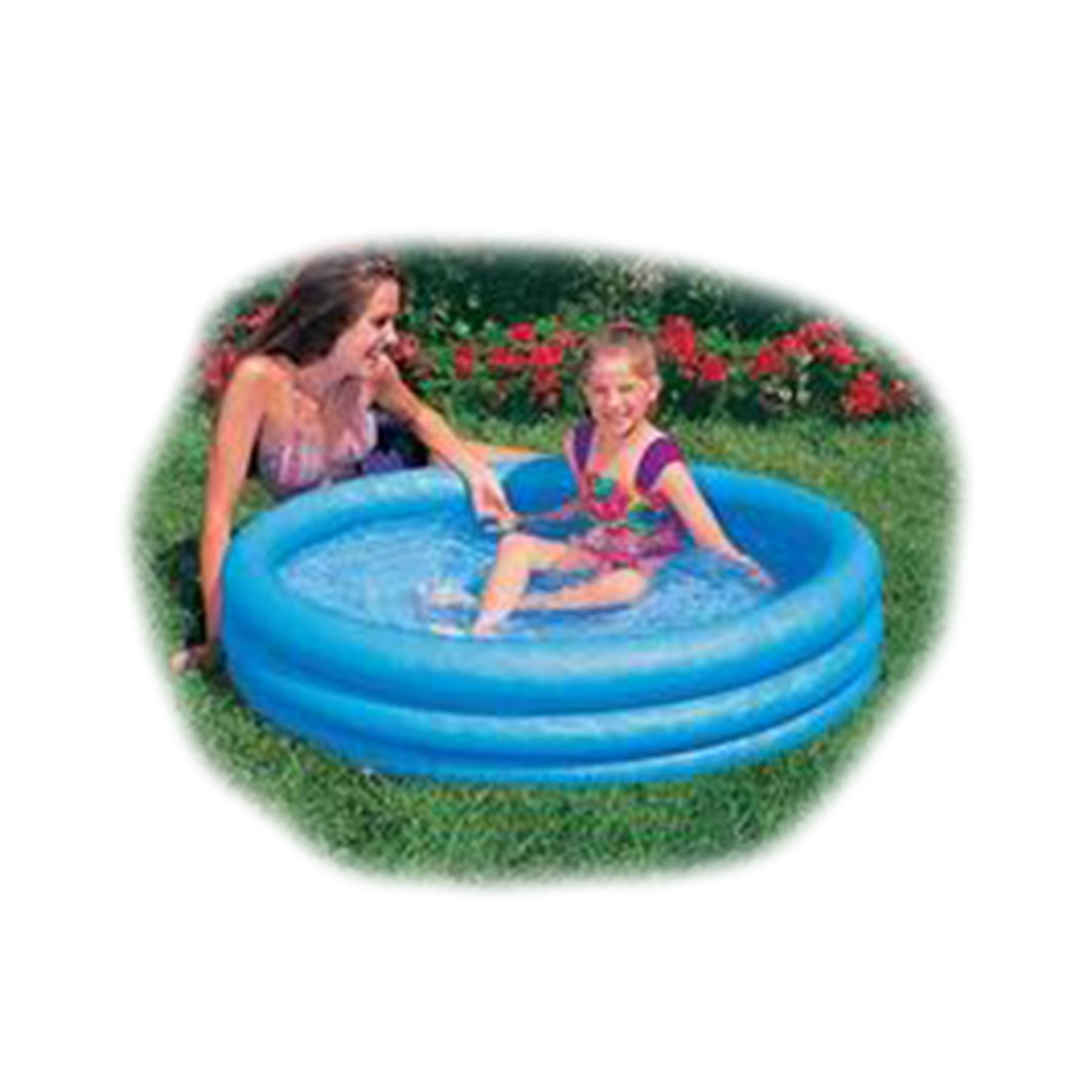 59416 Бассейн Кристал синий малый круглый 114*25см от 3 лет