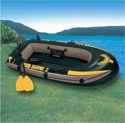 68347 Лодка Seahawk-2 236*114*41 +весла+насос груз. 200кг АКЦИЯ!