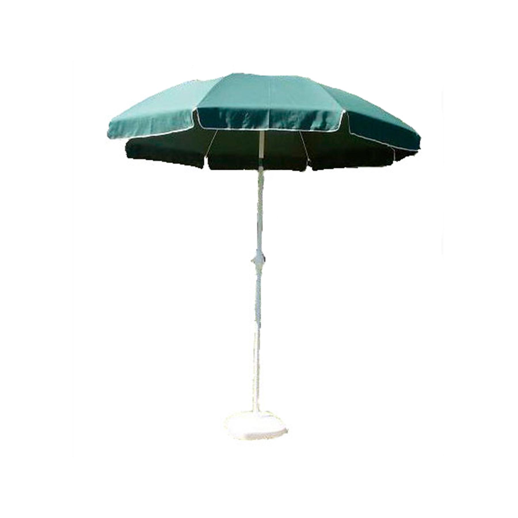 Зонт складной d=2,0м с углом наклона цветной для пляжа