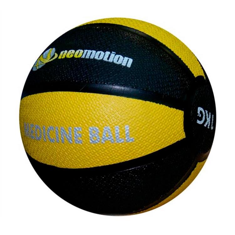 Мяч медбол Neomotion 1 кг NM-217-1-YE нат.литая резина