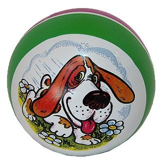 Мяч резиновый 125 мм арт.75 с рисунком