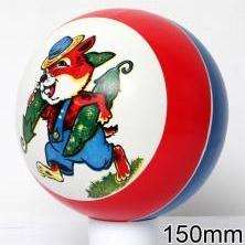 Мяч резиновый 150 мм арт.52 с рисунком