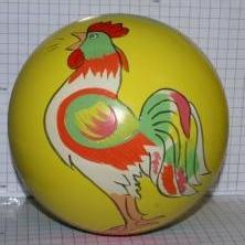 Мяч резиновый 150 мм арт.49 руч.раскр. (сказки)