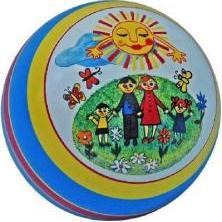 Мяч резиновый 200 мм арт.76 с рисунком